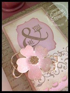You & Me Wedding Card - Created by Connie Stewart