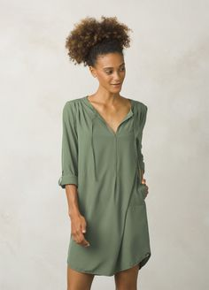 64ff2f4f6ff Natassa dress in forest green - prana Clothes 2018, Shirt Dress, T Shirt,
