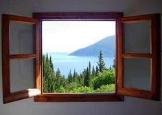 hey! ..just thought of this last week- imagine framing a place you've been to and miss.. with a real window - so, you can look out over that view once more