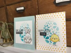 Today I want to share two very cute Easter cards with you. One is with a cute chickie, the other one features an adorable little bunny. Happy Easter, Easter Bunny, Easter 2020, How To Stay Healthy, Cards, Handmade, Design, Design Comics