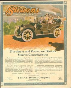 1910 Stearns Touring Car Cleveland OH