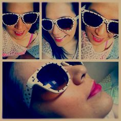 Dotty Shade-y, Animal Print and Neon Pink!