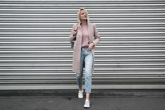 Ripped Jeans, Duster Coat, Normcore, Casual, People, Minimal, Jackets, Clothes, Street