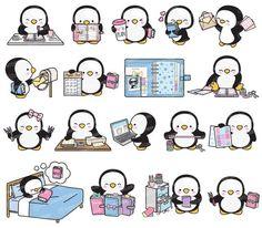 Penguin Drawing, Penguin Art, Baby Animal Drawings, Cute Drawings, Cute Kawaii Animals, Animal Doodles, Kawaii Doodles, Cute Wallpaper For Phone, Cute Penguins
