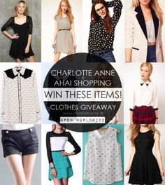 Win $30 worth of brand new clothes!  Anycone can join! Open Worldwide!  Find out how here: http://charlotteanne.tk/2013/08/charlotte-anne-x-ahaishopping-clothes-giveaway/