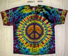 Free Shipping - Handmade Peace Sign Tie Dye Shirt