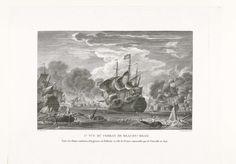 François Jacques Dequevauviller | De slag bij Beachy Head, 1690, François Jacques Dequevauviller, François Nicolas Barthélemy Dequevauviller, 1755 - 1811 | Zeeslag bij Beachy Head (Béveziers) waarbij een gecombineerd Engelse en Nederlandse vloot verslagen wordt door de Fransen, 10 juli 1690.