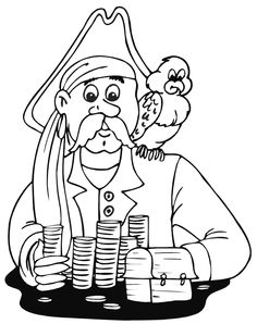 Dibujos para Colorear. Dibujos para Pintar. Dibujos para imprimir y colorear online. Piratas 10