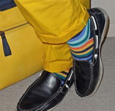 Club Monaco pants, Unsimply Stitched socks, Steve Madden loafers...