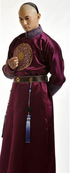 Ancient Chinese Qing Dynasty Prince Costume Complete for cosplay
