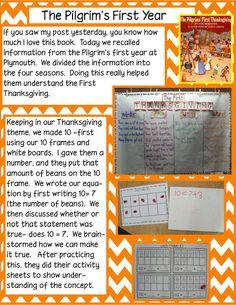 Golden Gang Kindergarten  seasons of the first thanksgiving