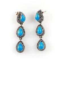 Sioro Jewelry Multi Stone Drop Earrings