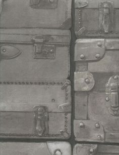 Wallpapers: Collection Engineer, product Luggage Gunmetal - Andrew Martin Papel pintado. Colección Engineer. Luggage Gunmetal