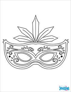 mardi gras mask craft and template printable masquerade mask