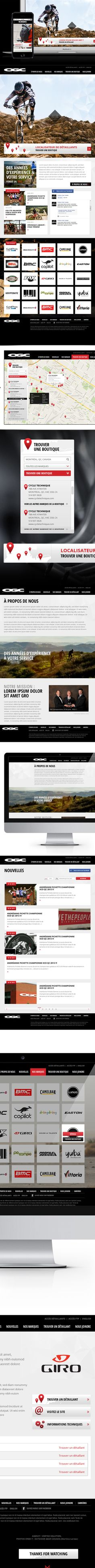Outdoor Gear company website-biking