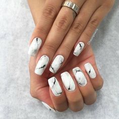 Current nail obsession: #marble #nails Source    Pinterest #nailart #beauty #makeup #YouCamNails