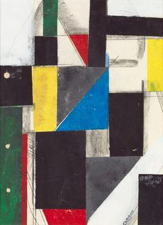 Pierre-Louis Flouquet (1900-1967) Composition, 1931 Gouache, aquarelle et fusain sur papier. Signée et datée en bas à droite 38,5 x 28,5 cm