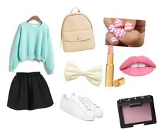 Cute :3 by angela-g-fuentes on Polyvore featuring moda, WithChic, adidas, Skagen, NARS Cosmetics, Too Faced Cosmetics and SoGloss