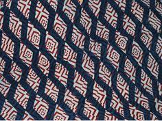 Indigo Blue Cotton Fabric- Indigo Cotton Fabric - Vegetable dyed Hand Block Printed Cotton / block print cotton fabric sold by Yard