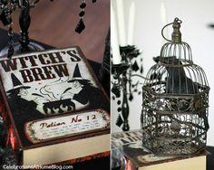Decora la mesa de tu fiesta brujas con libros de hechizos / Decorate your witch party table with spell books