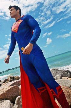 Superman Top Cosplay, Male Cosplay, Best Cosplay, Superman Cosplay, Superman Art, Superman Stuff, Batman Armor, Superhero Suits, Cosplay Tutorial