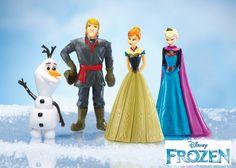 4 Pc Disney Frozen Figurines Toy Play Set Anna Elsa Olaf Kristof Dolls Stocking #Disney