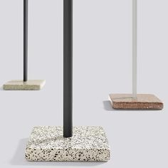 TERRAZZO: square or round table, 3 heights available, multiple finishes, HAY Hay Design, Aesthetic Design, Square Tables, Galvanized Steel, Terrazzo, Scandinavian Design, Contemporary Furniture, Cool Designs, Candle Holders