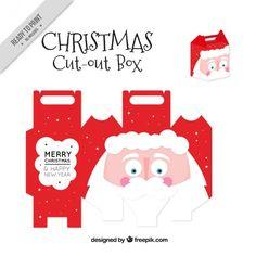 Caja recortable Papá Noel