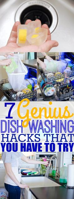 '7 Genius Dish Washing Hacks That Will Change The Way That You Wash Dishes...!' (via Forever Free By Any Means)