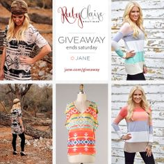 I just entered this giveaway from Jane.com and Ruby Claire Boutique ! You should enter too :)