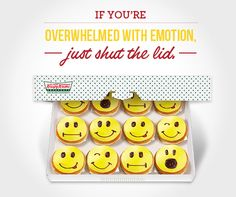 Which fun face is your favorite? Krispy Kreme, Coffee Shops, Doughnuts, Restaurants, Smile, Cookies, Canning, Sweet, Face