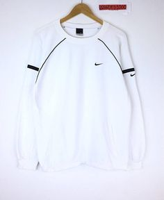 c8a10d088bf0 Rare!!! Nike Sweatshirt Nike Small Logo Pullover Jumper Sweater Sportwear  Hip Hop Swag