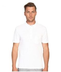 Todd Snyder Weathered Pocket Polo (White) Men's Clothing