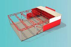"""Представялем серийное здание """"Абсолют"""" среднего ценового диапазона. Наиболее подходящее для тех Заказчиков, кто строит для себя. Колонны выполнены из железобетона. Такое здание обладает длительным сроком службы и повышенной пожарной безопасностью. Пройдя по ссылке можно подобрать размеры и параметры здания в онлайн режиме. https://goo.gl/JqXScM  #строительство #проект #проектирование #металлоконструкции"""