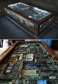 """geek table Most of my posts have dealt with games that have shaped my own RPG playing over the years.  I am taking a short break from that to show off some """"dream tables/game rooms"""" that I have found online.  Well done, gamers."""