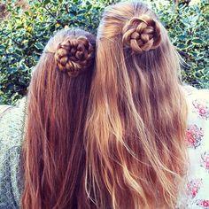 rose flower braids