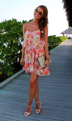 Flowy floral dress. Beautiful.