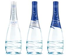 Packaging Design, Glacier Isle water bottle design