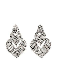 Elizabeth Deco Stud Earrings | Clear | Accessorize