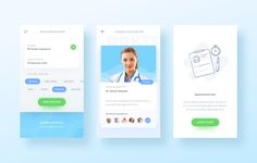 png by Ghani Pradita Mobile Ui Design, Ui Ux Design, Ui Color, Mobile App Ui, Mobile Web, Card Ui, App Design Inspiration, Medical Design, Health App