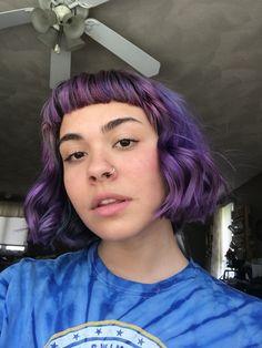 Purple Hair Black Girl, Dyed Hair Purple, Hair Color Purple, Hair Dye Colors, Fox Hair Dye, Dye My Hair, Semi Permanent Hair Dye, Arctic Fox Hair Color, Hair Again