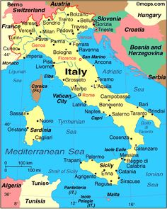 Map Of Italy In English - Bing Images