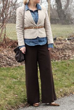 cute idea for brown pants