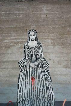 "Artist : Tian ...."" Varsovie- Pologne "" #streetart #arturbain #graffiti #urbanart #streetartgalerie Stencil Street Art, Street Gallery, Street Art Graffiti, Tiana, Urban Art, Stencils, Architecture, Awesome, Photography"