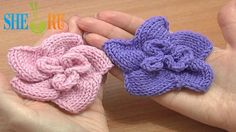 Knitted Spiral Flower Knitting Tutorial 1 Learn How to Knit Flowers Knitting Videos, Knitting Stitches, Knitting Patterns Free, Knit Patterns, Free Knitting, Knitting Projects, Flower Patterns, 123 Cross Stitch, Knitted Flowers