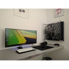 A unique ultrawide setup. By Redditor Drublix. - - Check out the link in my bio! - Tag a friend who might like this page! - DM or Kik me your setup to be featured! #setup #dreamsetup #workstation #battlestation #workspace #pcgaming #deskspace #desksetup #gaming #game #gamer #gamingsetup #pc #pcmasterrace #computer #technology #clean #pcgaming101 #apple #interiordesign #dreamroom #style #goodvibes #instagood #design #trademarkedsetups #f4f #pcgaminghub #intel #nvidia