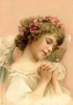 Child angel, peach-pink; searched, but could not find image at source: doityourselfchic via tumblr