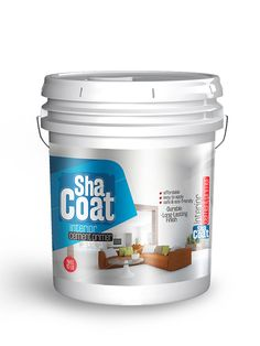 Shacoat label design by Brandz Paint Buckets, Cosmetic Packaging, Painted Boxes, Good Housekeeping, Packaging Design Inspiration, Label Design, Layout Design, Painting, Uae