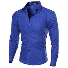 Shopping Cart | LightInTheBox Slim Fit Dress Shirts, Fitted Dress Shirts, Long Sleeve Shirt Dress, Long Sleeve Shirts, Cheap Mens Shirts, Mens Shirts Online, Casual Shirts For Men, Men Shirts, Collar Shirts