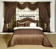 brown curtains designs, luxury classic curtains and drapes 2017 for bedroom New catalogue of classic luxury curtains and drapes 2017 with the best classic curtains designs and drapery designs 2017 for all rooms living room, kitchen, dining room Ikea Curtains, Curtains Behind Bed, Brown Curtains, Pink Curtains, Nursery Curtains, Home Curtains, Velvet Curtains, Curtains 2018, Patterned Curtains